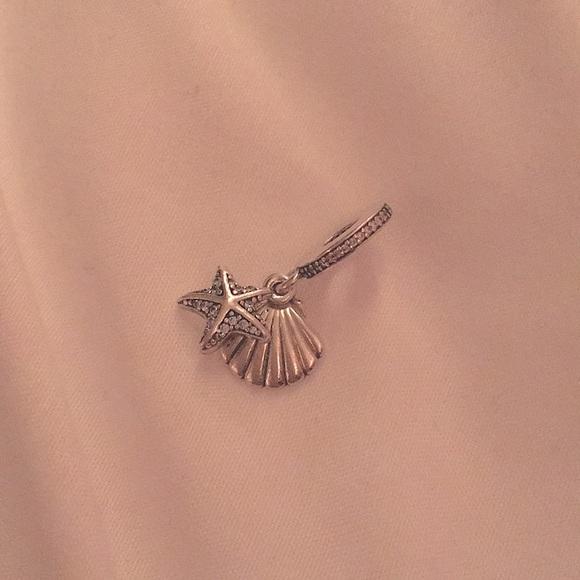 Pandora Seashell and Starfish Dangle Charm